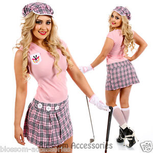 I80-Womens-Pub-Golf-Sports-Fancy-Dress-Costume-Ladies-Hen-Night-Golfer-Outfit