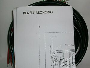 impianto elettrico electrical wiring moto benelli leoncino. Black Bedroom Furniture Sets. Home Design Ideas