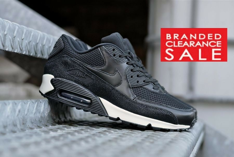 BNIB New Hommes Nike Air Max 90 Leather stingray sea 9UK glass noir 7 8 9UK sea deadstock a45684