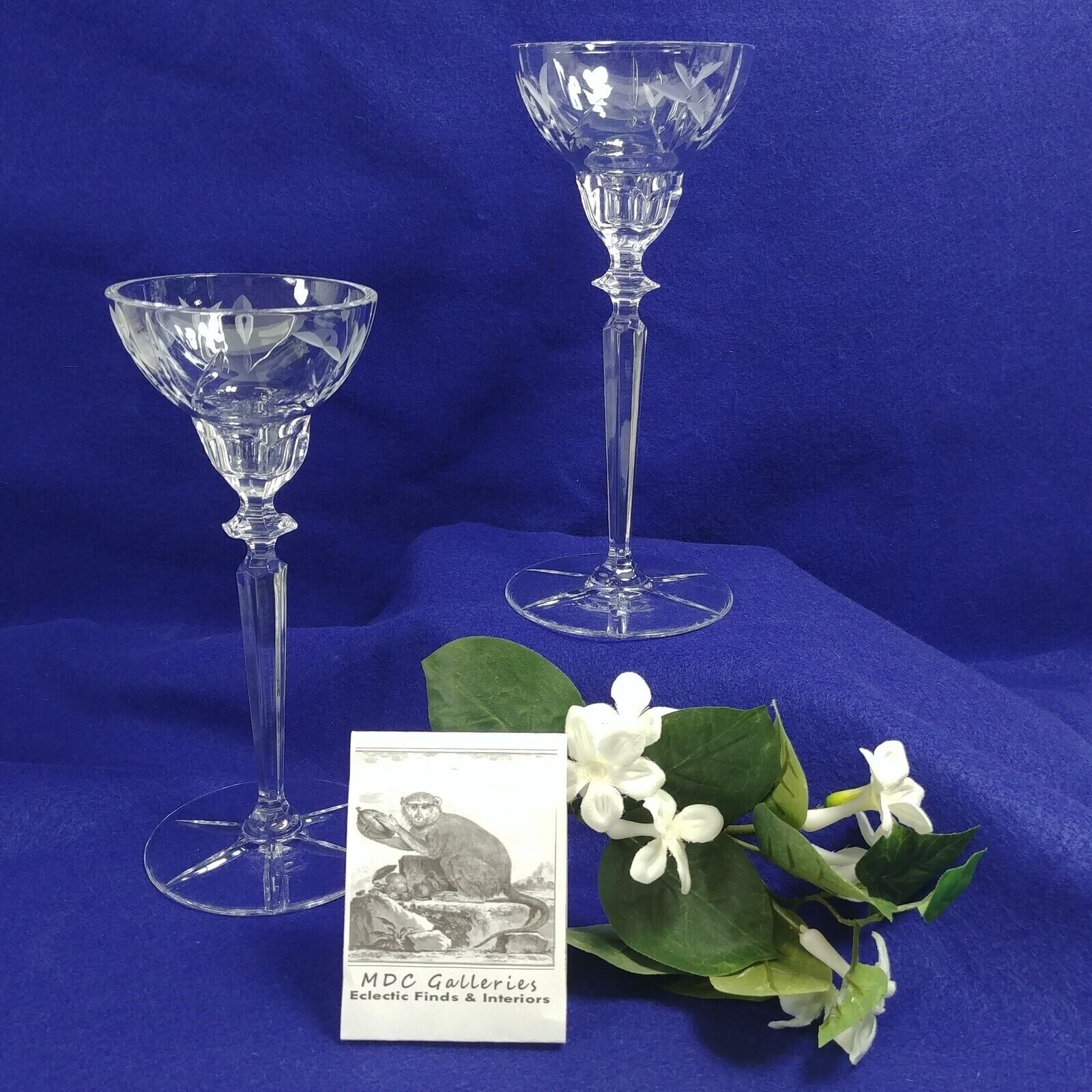 Crystal Candle Holders Taper or Tea Light Votive 2 pc. Set