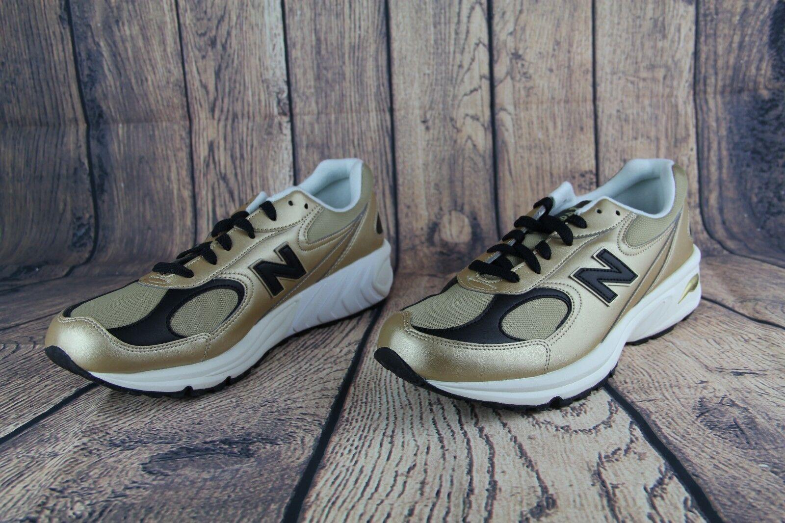 Para hombres Cuero entrenamiento Oro New correr caminar entrenamiento Cuero Balance Zapatos  ML498GB e908bb