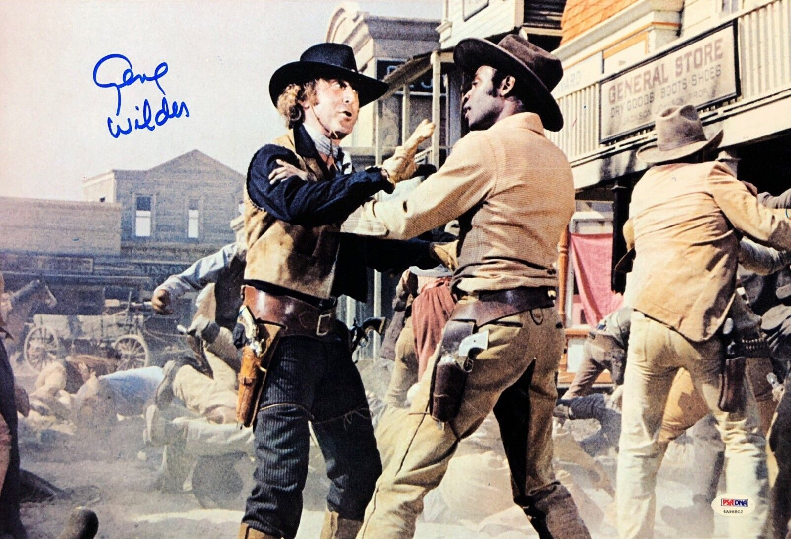 Gene Wilder Signed Blazing Saddles 12x18 Photo PSA 4A96802