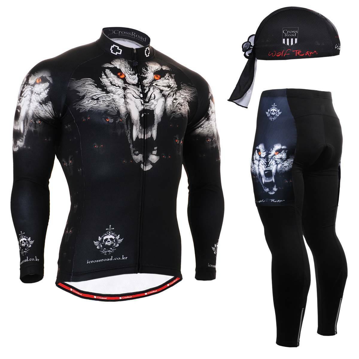 FIXGEAR CS-1801 SET Cycling Jersey & Padded Pants,MTB Bike,BMX,Beanie Free GIFT