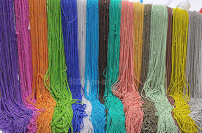 U Pick 26Inch Ball Chain Necklace 1.5mm bead beads connector 18Color wholesale