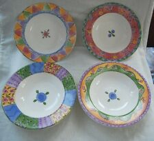 Sango Set of 4 BOWLS The Sweet Shoppe Cranberry Twirl Key Lime Pie Peach Cobbler
