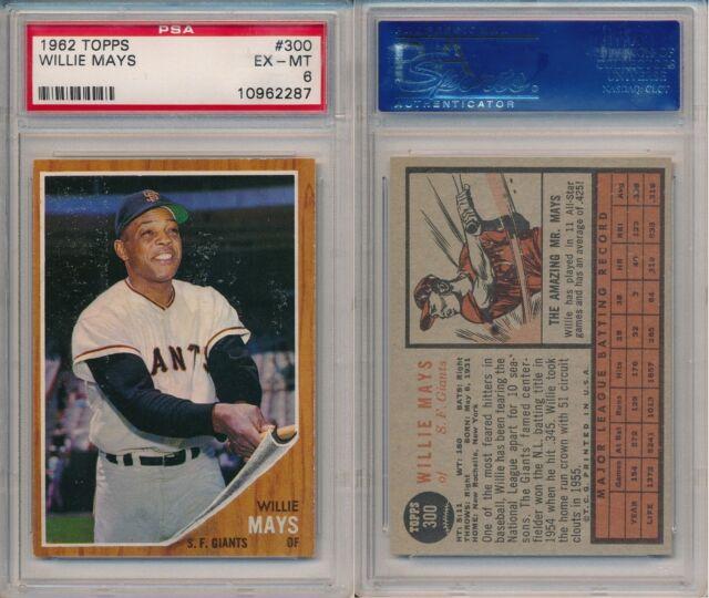 1962 Topps Willie Mays 300 Baseball Card
