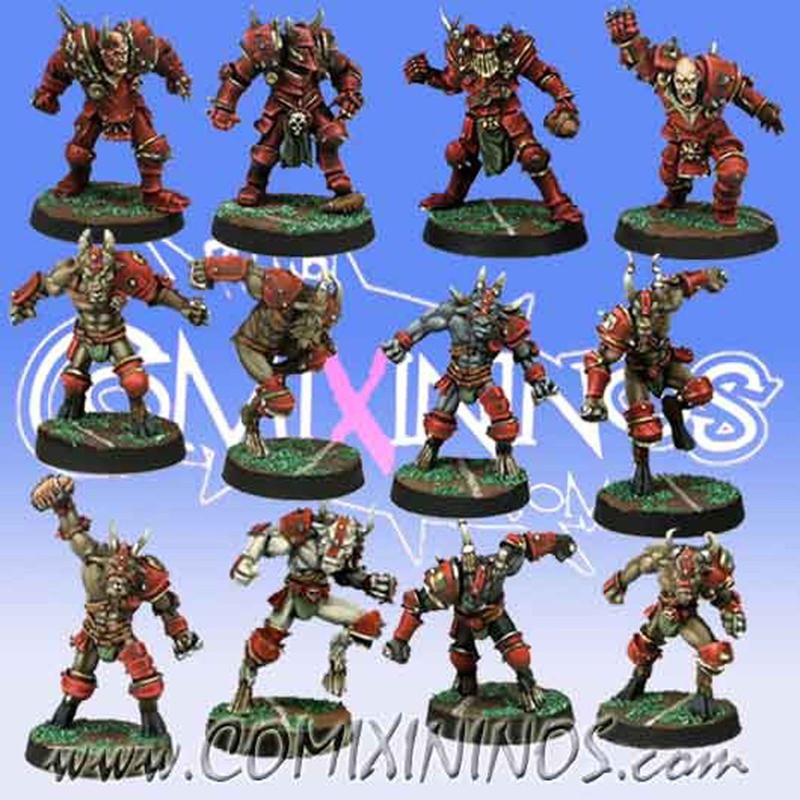 Fantasy Football - CHAOS TEAM 12 Players for Blood Bowl - Meiko Miniatures