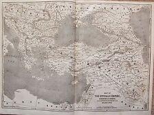 1854 MAP THE OTTOMAN EMPIRE KINGDOM OF GREECE & RUSSIAN PROVINCES ON  BLACK SEA
