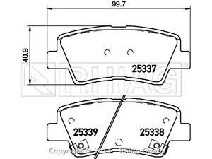 Blueprint Pastiglie freni ADG042154