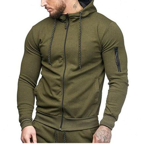 Sport Men/'s Hoodie Sweater Slim Fit Casual Jacket Cardigan Pullover Sweatshirt