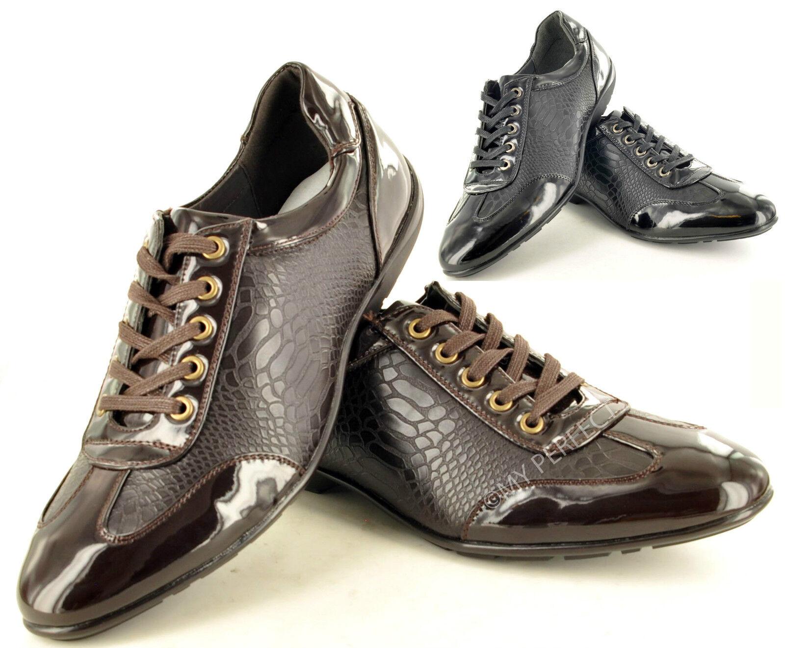 Hombre Zapatos Informal Forrado Piel Formal Zapatos Hombre Elegantes Con Cordones TALLA 0652ce
