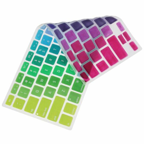 Laptop 13/'/'15/'/'17/'/' Colorful Rainbow Keyboard Silicone For Macbook Air Cover