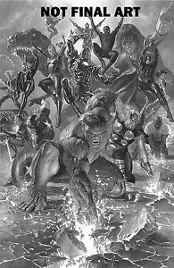 MARVEL-LEGACY-1-ALEX-ROSS-B-amp-W-VARIANT-AVENGERS-SPIDERMAN-CAPTAIN-MARVEL-COMICS