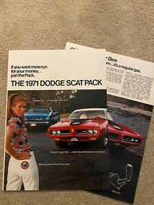 VERY-RARE-Dodge-USA-Scat-Pack-Sales-Brochure-Booklet-8-Page-Original-1970