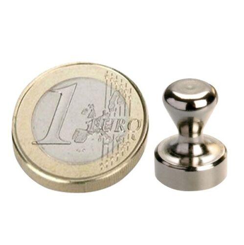 Kegel Pinnwand Magnet aus Stahl Ø12 x 16mm Neodym hält 4,5kg 5 x Kegelmagnet