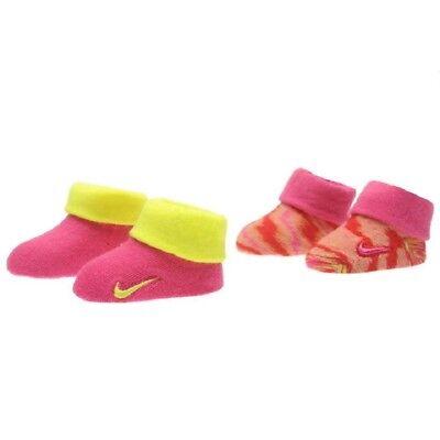2Paar Nike Baby Booties Socken Schuhe Geschenk neugeborene Mädchen Jungen 0-6Mon