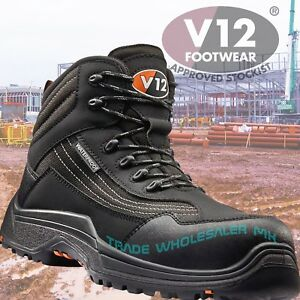 be860fe4b6b Details about V12 CAIMAN Waterproof Hiker Safety Work Boots Composite Toe  Midsole Metal Free