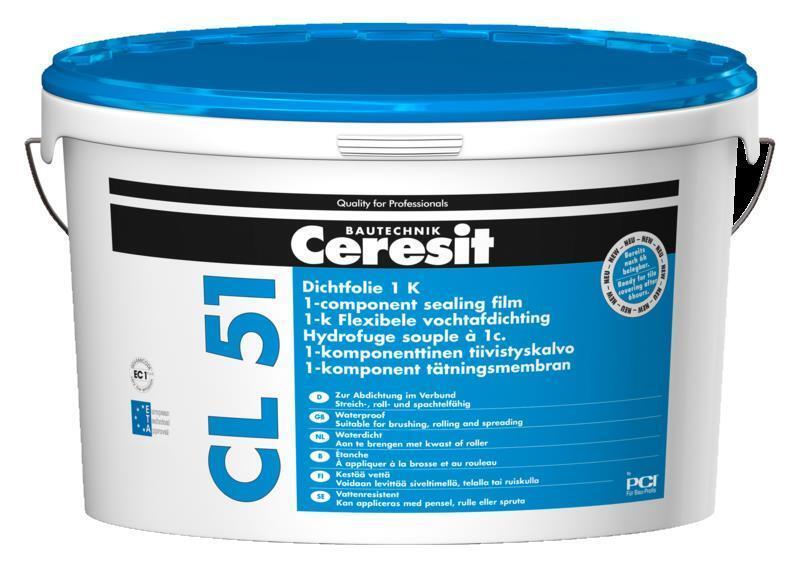 Ceresit CL 51 Dichtfolie 1K Wasserdichte flexible Abdichtung unter Fliesen 7,5kg