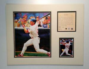 Philadelphia Phillies Lenny Dykstra 1995 Baseball MATTED Kelly Russell Print
