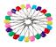 Mezcla-de-color-Bebe-Panal-Panal-viste-Pin-50MM-Imperdibles-Panales-clips-de-artesania miniatura 1