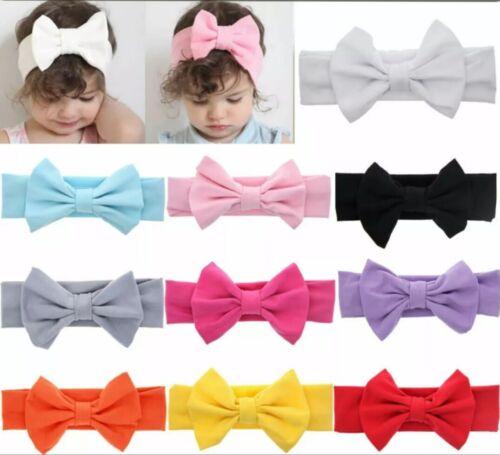 Baby Headband Bow Knot Big Vintage Retro Hair Ribbon Children Kids Girls Boys