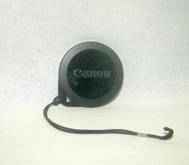 Canon Original Mega Zoom 105 Camera Push Fit Lens Cap with Keeper Lanyard.