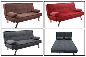 Divano Letto In Ecopelle Rosso.Sofa Divano Letto Reclinabile Salotto Microfibra Nero Rosso Grigio 3