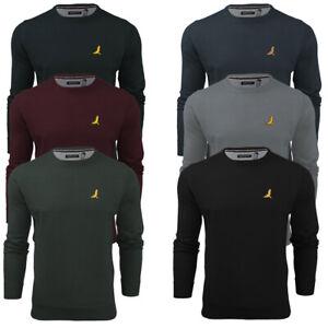 Mens-Knitwear-Jumper-Light-Knit-Crew-Neck-Long-Sleeve-Sweater-Jersey-Brave-Soul