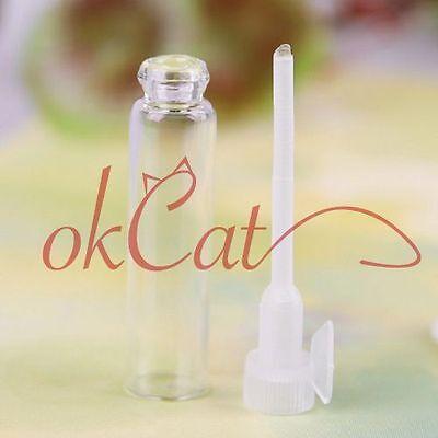 10/50/100pcs 1ml Glass Vial Empty Laboratory Bottles Perfume Liquid Oil Makeup
