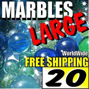20-LARGE-Colourful-Marbles-Toy-Game-Present-Free-Ship