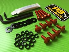 Orange Fairing Bolt kit for yamah MT03