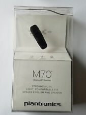 New Plantronics M70 Wireless Bluetooth Headset - Black - Retail Packaging