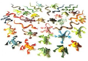 36x-serpents-modele-Animal-lezards-Salamandre-FIGURINE-ANIMAL-monoblocs-reptiles