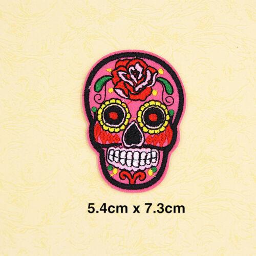 Mixed Mexiko Zucker Schädel Motiv bestickt Eisen Nähen auf Patches