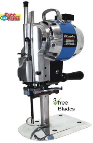 "3 free Eastman Blades iKonix Fabric Cloth Cutter KC-3 Blue 10/"" cutting machine"