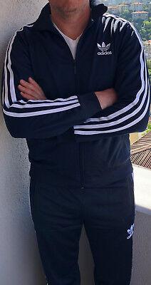 Classical Adidas mens tracking suit vintage mens model Dark Blue tracksuit