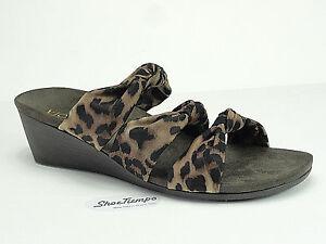 Vionic Orthoheel Damens's Park Rizzo Tan Leopard Wedge Open Toe Toe Open 205f6f