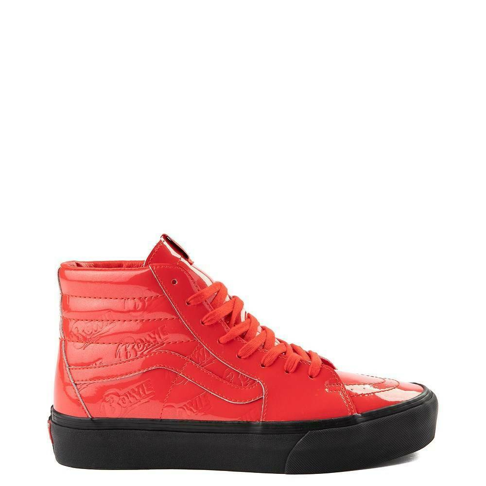 NEW Vans x David Bowie Ziggy Stardust Sk8 Hi Platform 2.0 DB Red Patent Leather