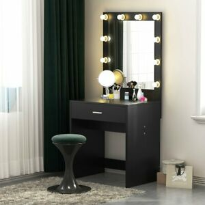 Details About Tribesigns Vanity Set With Lighted Mirror Makeup Dressing Table 10led Light