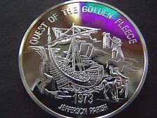 1973 Jason QUEST OF THE GOLDEN FLEECE Fine Silver HighRelief Mardi Gras Doubloon