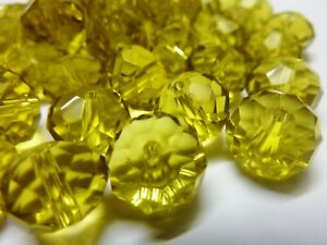 60-pce-Golden-Faceted-Crystal-Cut-Abacus-Glass-Beads-12mm-x-8mm