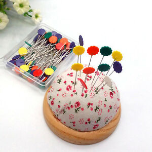 50pcs-Patchwork-Craft-Flower-Button-Head-Pins-Quilting-Tool-Sewing-Accessories