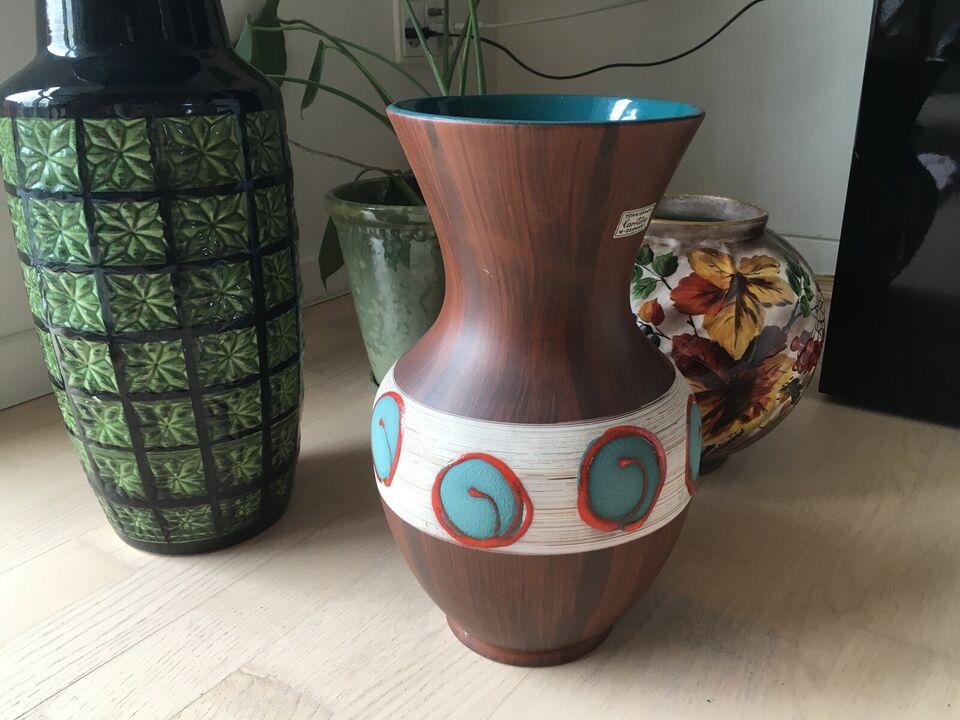 Keramik, Gulvvase, West Germany - Tönnieshof Carstens