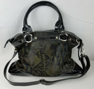 Image Is Loading Cavalcanti Calf Hair Black Green Shoulder Hand Bag