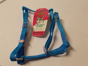 Aspen-Pet-Adjustable-Nylon-Harness-3-8-034-14-034-to-20-034-Blue