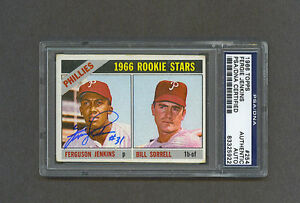 Fergie-Jenkins-signed-Phillies-1966-Topps-Rookie-baseball-card-Psa-Dna