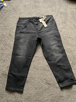 M/&s Mid Rise Grey Straight  Ankle Grazer Jeans Size 18 S Bnwt Free Same day P/&p