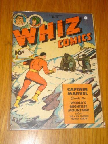 WHIZ COMICS #70 VG+ 4.5 1946 JANUARY FAWCETT