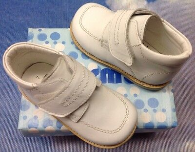 Wedding Dress Shoe Toddler Size 5 to 8 First Step Walker White Leather Baptism