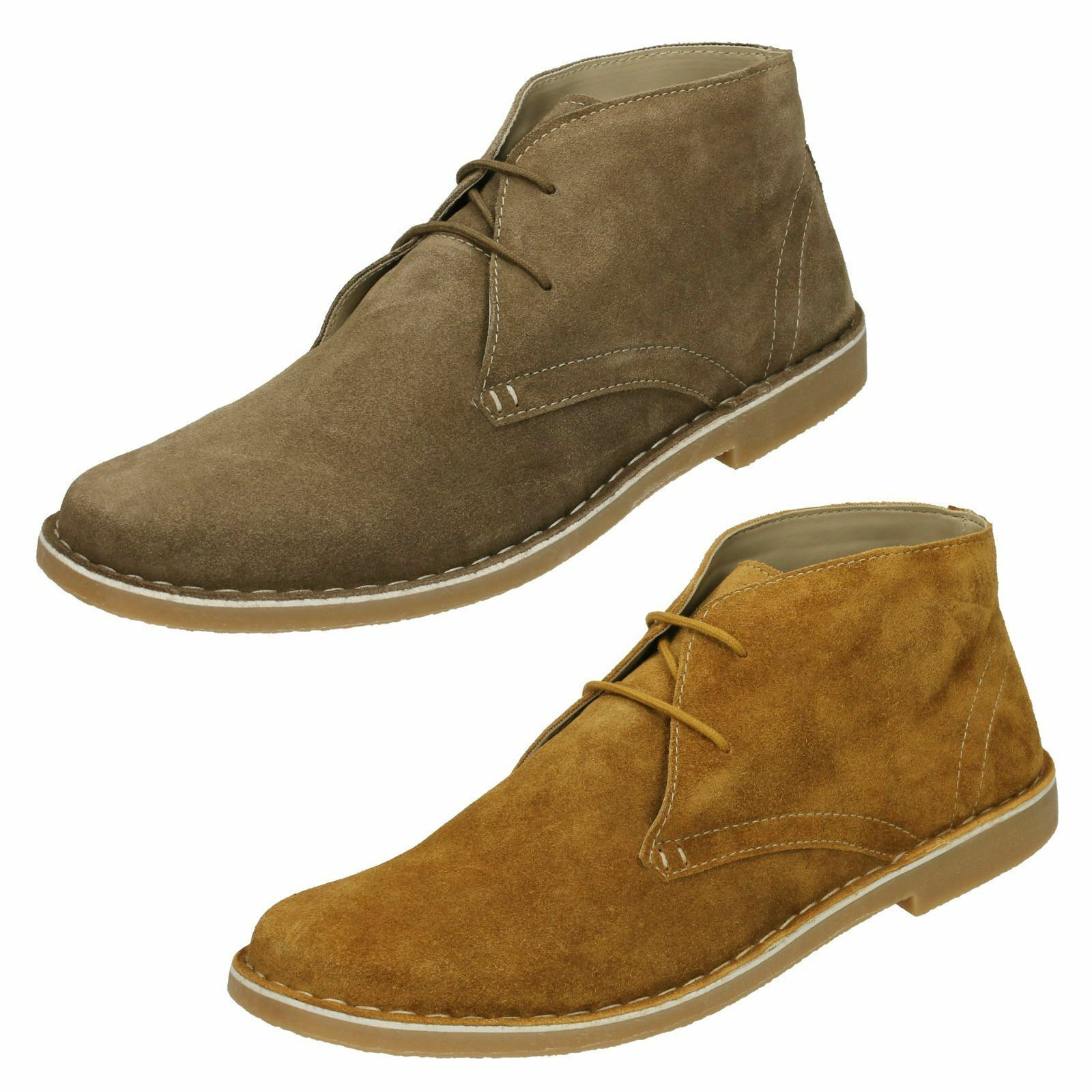 Mens CARNABY suede leather lace up Ankle Boot By Lambretta